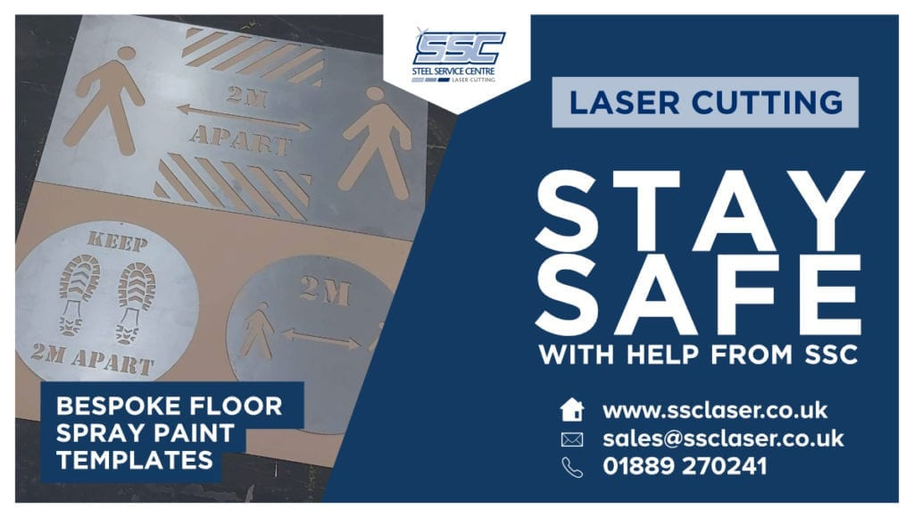 Laser Cut Covid-19 Products from SSC Laser | SSC Laser Cutting